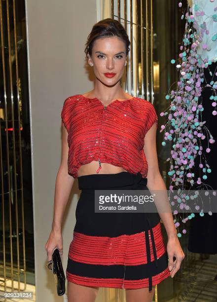 Alessandra Ambrosio attends Giorgio Armani's celebration of 'The Shape of Water' hosted by Roberta Armani on March 3 2018 in Beverly Hills California
