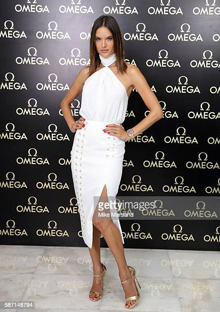 Alessandra Ambrosio attends Gold Night at OMEGA House Rio 2016 on August 7 2016 in Rio de Janeiro Brazil