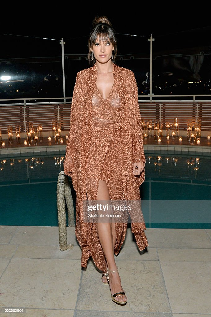 Alessandra Ambrosio attends Harper's BAZAAR celebration of the 150 Most Fashionable Women presented by TUMI in partnership with American Express, La Perla and Hearts On Fire at Sunset Tower Hotel on January 27, 2017 in West Hollywood, California.