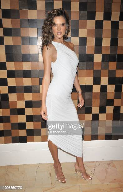Alessandra Ambrosio attends HQ2 Beachclub at Ocean Resort Casino on July 28 2018 in Atlantic City New Jersey