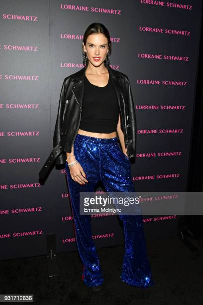 Alessandra Ambrosio attends Lorraine Schwartz launches The Eye Bangle a new addition to her signature Against Evil Eye Collection at Delilah on March...