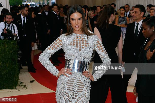 Alessandra Ambrosio attends Manus x Machina Fashion in an Age of Technology the 2016 Costume Institute Gala at the Metropolitan Museum of Art on May...