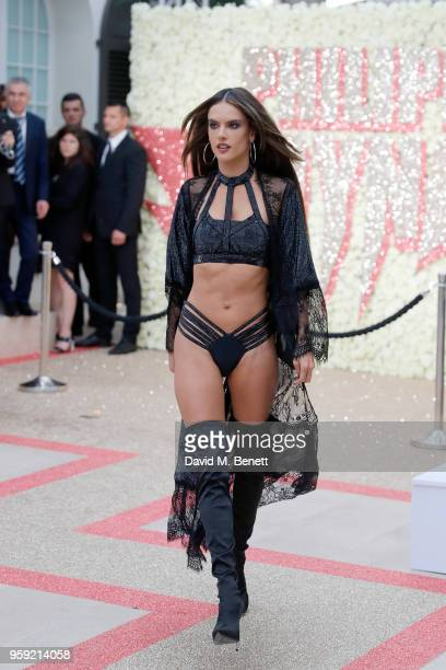 Alessandra Ambrosio attends Philipp Plein Dynasty Women's Men's Resort 2019 Fashion Show during the 71st annual Cannes Film Festival on May 16 2018...
