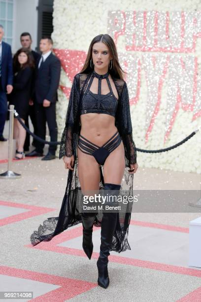 Alessandra Ambrosio attends Philipp Plein 'Dynasty' Women's Men's Resort 2019 Fashion Show during the 71st annual Cannes Film Festival on May 16 2018...