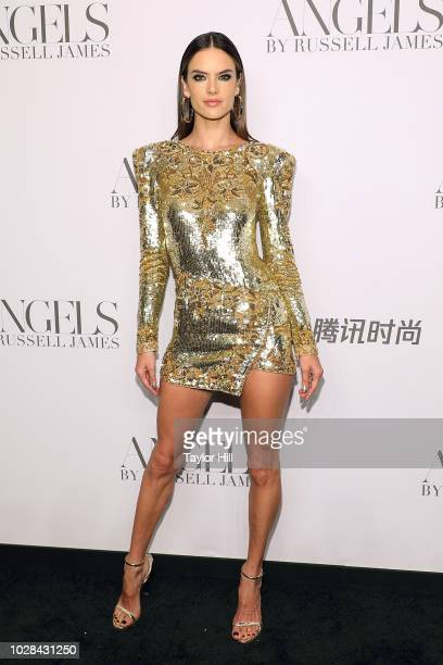 Alessandra Ambrosio attends Russell James' launch of his photobook and exhibition Angels at Stephan Weiss Studio on September 6 2018 in New York City