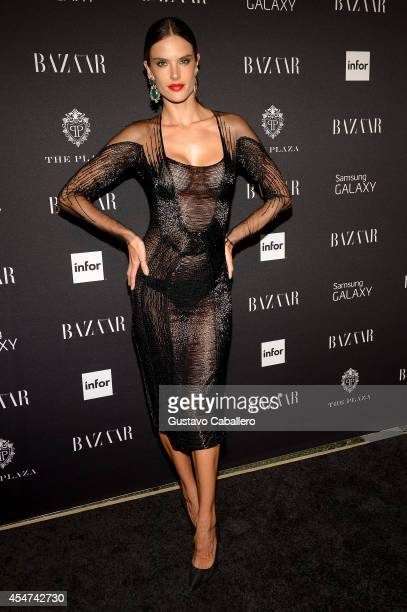 Alessandra Ambrosio attends Samsung GALAXY At Harper's BAZAAR Celebrates Icons By Carine Roitfeld at The Plaza Hotel on September 5 2014 in New York...