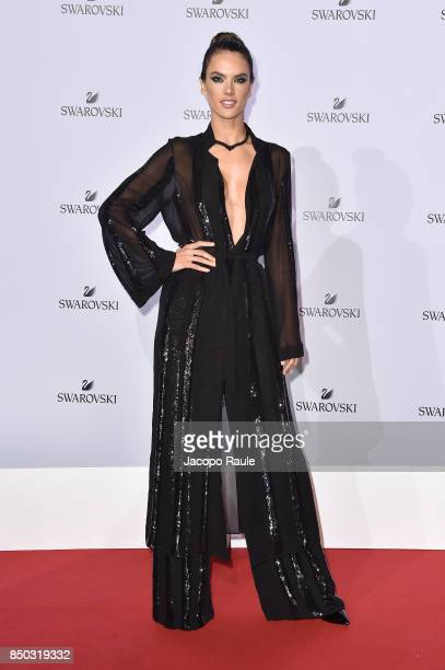 Alessandra Ambrosio attends Swarovski Crystal Wonderland Party on September 20 2017 in Milan Italy