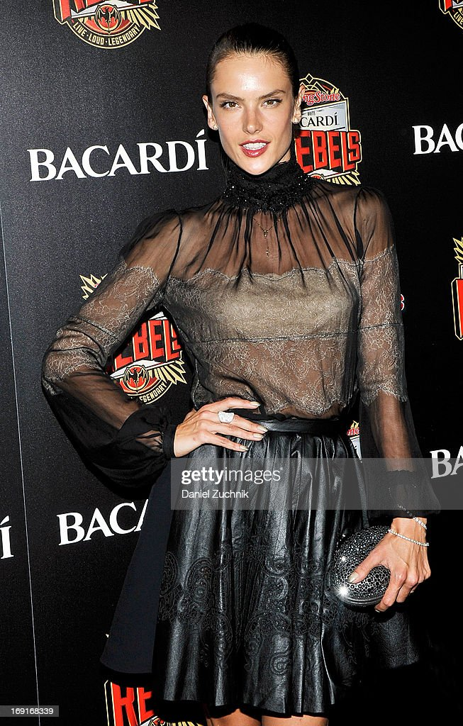 Alessandra Ambrosio attends the 2013 Bacardi Rebels Event Hosted By Rolling Stone at Roseland Ballroom on May 20, 2013 in New York City.