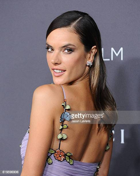 Alessandra Ambrosio attends the 2016 LACMA Art Film gala at LACMA on October 29 2016 in Los Angeles California