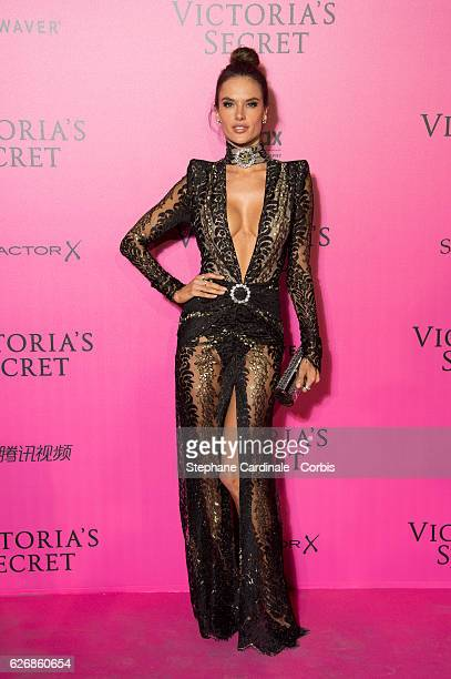 Alessandra Ambrosio attends the 2016 Victoria's Secret Fashion Show after party at Le Grand Palais on November 30 2016 in Paris France