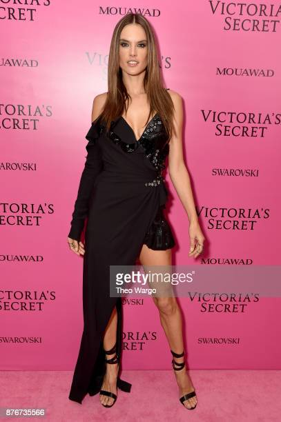 Alessandra Ambrosio attends the 2017 Victoria's Secret Fashion Show In Shanghai After Party at MercedesBenz Arena on November 20 2017 in Shanghai...