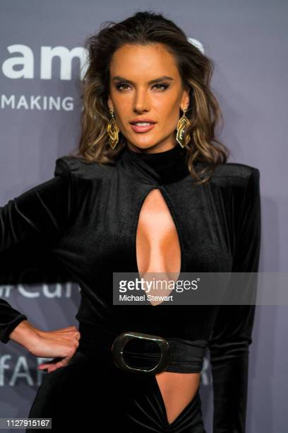 Alessandra Ambrosio attends the 2019 amfAR New York Gala at Cipriani Wall Street on February 06 2019 in New York City