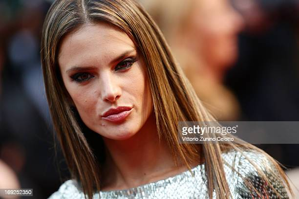 Alessandra Ambrosio attends the 'All Is Lost' Premiere during the 66th Annual Cannes Film Festival at Palais des Festivals on May 22 2013 in Cannes...