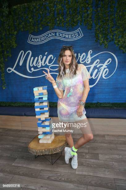 Alessandra Ambrosio attends the American Express Card Members Club at the 2018 Coachella Festival on April 14 2018 in Indio California