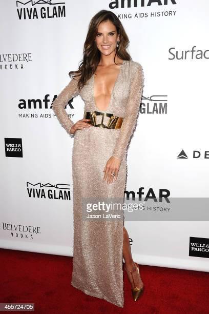 Alessandra Ambrosio attends the amfAR Inspiration Gala at Milk Studios on December 12 2013 in Hollywood California