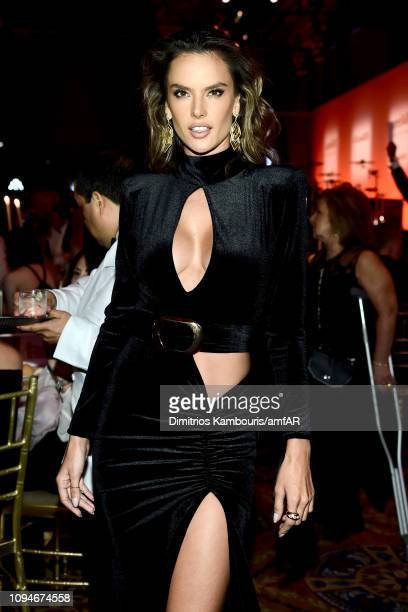 Alessandra Ambrosio attends the amfAR New York Gala 2019 at Cipriani Wall Street on February 6 2019 in New York City