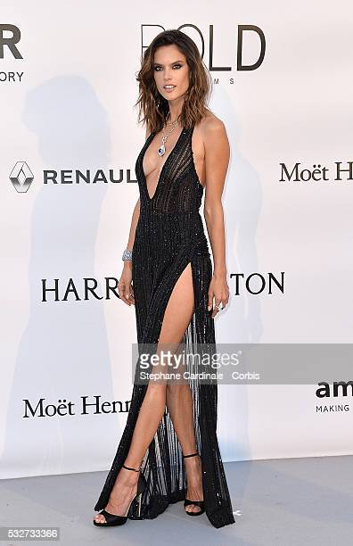 Alessandra Ambrosio attends the amfAR's 23rd Cinema Against AIDS Gala Dinner at the annual 69th Cannes Film Festival at Hotel du CapEdenRoc on May 19...