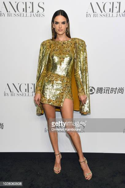 Alessandra Ambrosio attends the ANGELS by Russell James book launch and exhibit hosted by Cindy Crawford and Candice Swanepoel at Stephan Weiss...