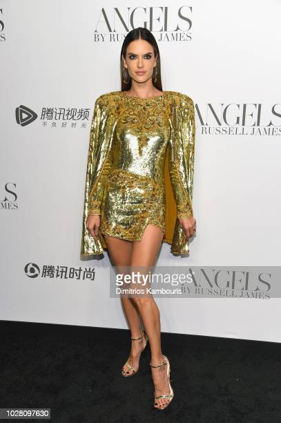 Alessandra Ambrosio attends the 'ANGELS' by Russell James book launch and exhibit hosted by Cindy Crawford and Candice Swanepoel at Stephan Weiss...