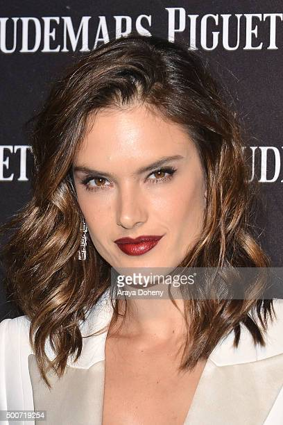 Alessandra Ambrosio attends the Audemars Piguet grand opening of Rodeo Drive Boutique at Audemars Piguet on December 9, 2015 in Beverly Hills,...