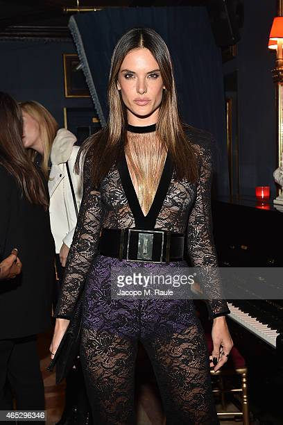Alessandra Ambrosio attends the Balmain Aftershow Dinner as part of the Paris Fashion Week Womenswear Fall/Winter 2015/2016 on March 5 2015 in Paris...