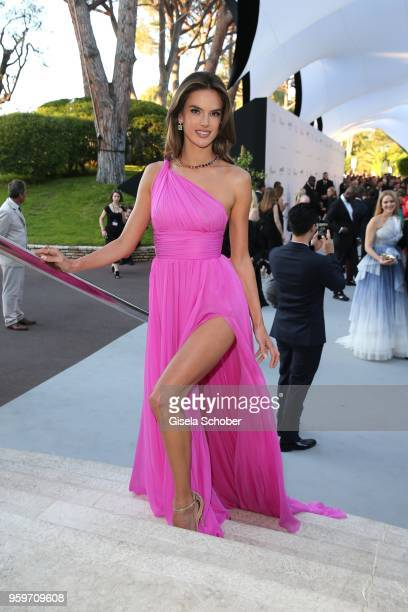 Alessandra Ambrosio attends the cocktail at the amfAR Gala Cannes 2018 at Hotel du CapEdenRoc on May 17 2018 in Cap d'Antibes France