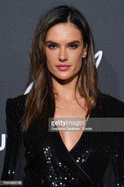 Alessandra Ambrosio attends the CR Fashion Book x LuisaViaRoma Photocall as part of the Paris Fashion Week Womenswear Spring/Summer 2019 on October 1...