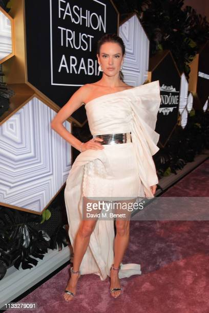 Alessandra Ambrosio attends the Fashion Trust Arabia Prize awards ceremony on March 28 2019 in Doha Qatar