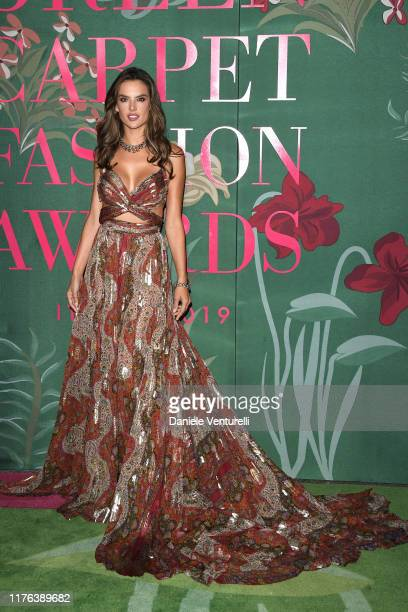 Alessandra Ambrosio attends the Green Carpet Fashion Awards during the Milan Fashion Week Spring/Summer 2020 on September 22 2019 in Milan Italy