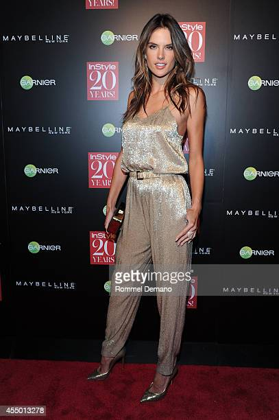 Alessandra Ambrosio attends the Instyle Hosts 20th Anniversary Party at Diamond Horseshoe at the Paramount Hotel on September 8, 2014 in New York...