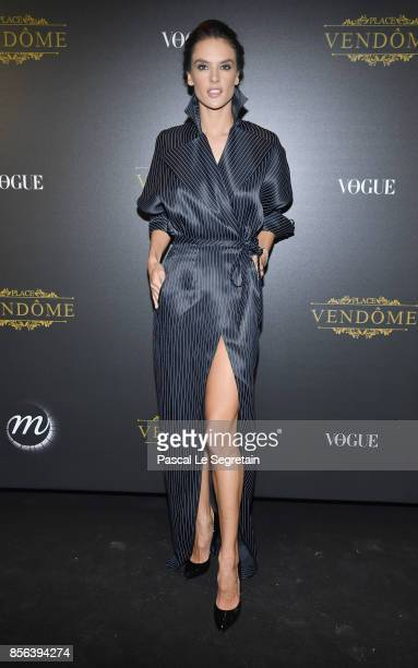 Alessandra Ambrosio attends the Irving Penn Exhibition Private Viewing Hosted by Vogue as part of the Paris Fashion Week Womenswear Spring/Summer...