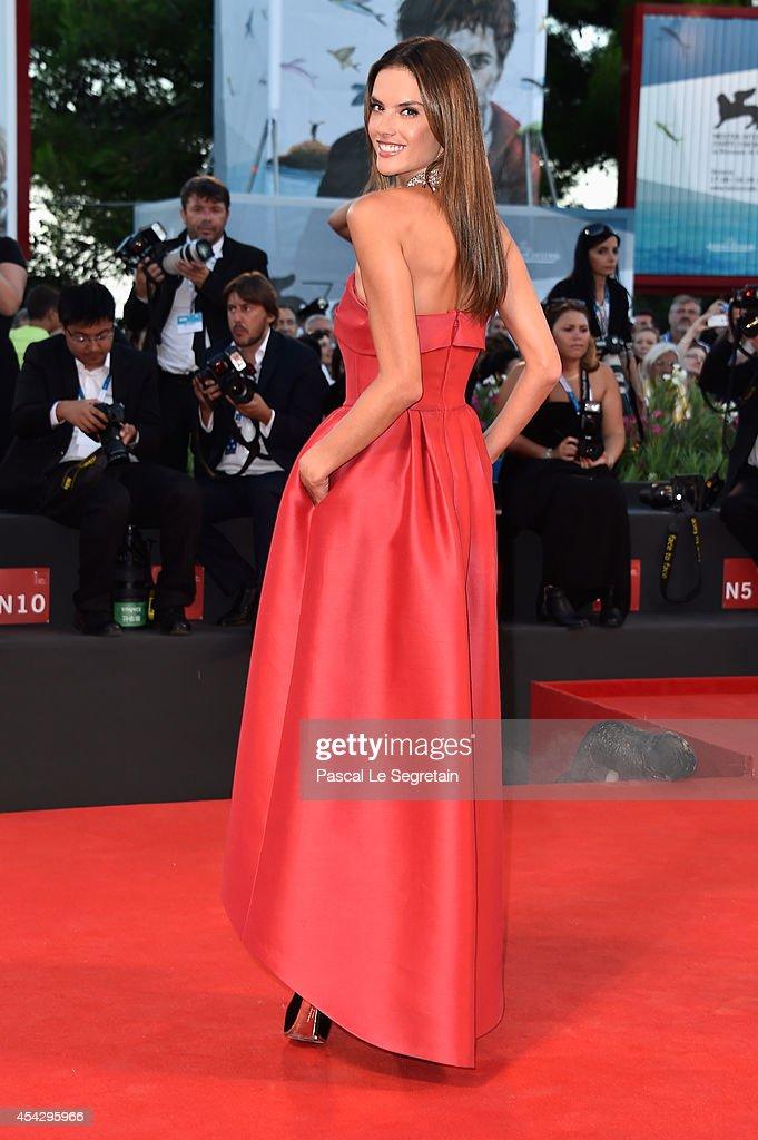 Alessandra Ambrosio attends the 'La Rancon De La Gloire' premiere during the 71st Venice Film Festival on August 28, 2014 in Venice, Italy.