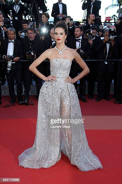Alessandra Ambrosio attends 'The Last Face' Premiere during the 69th annual Cannes Film Festival at the Palais des Festivals on May 20 2016 in Cannes...