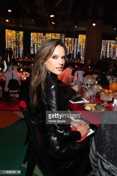 Alessandra Ambrosio attends the Love Ball in aid of the Naked Heart Foundation and Al Shafallah at Museum of Islamic Art on March 29 2019 in Doha...