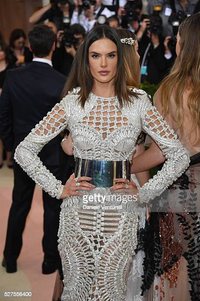 Alessandra Ambrosio attends the 'Manus x Machina: Fashion In An Age Of Technology' Costume Institute Gala at the Metropolitan Museum on May 02, 2016...