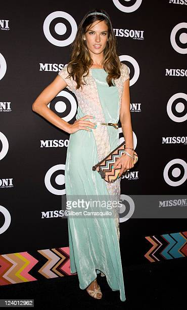 Alessandra Ambrosio attends the Missoni for Target Collection launch at the Missoni for Target PopUp Store on September 7 2011 in New York City