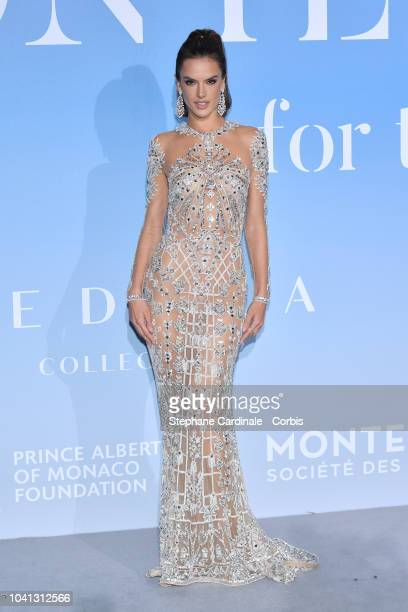 Alessandra Ambrosio attends the MonteCarlo Gala for the Global Ocean 2018 on September 26 2018 in MonteCarlo Monaco