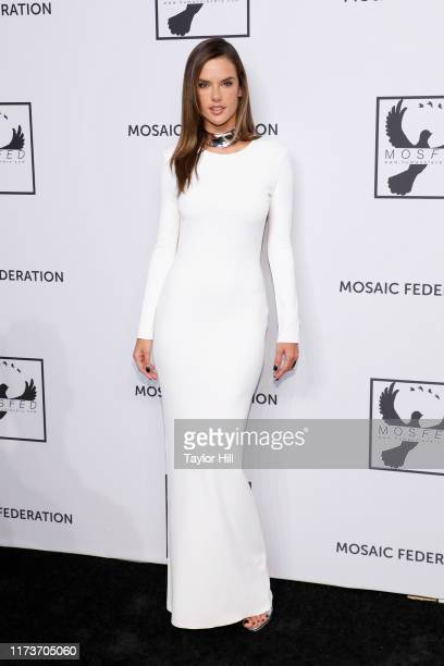 Alessandra Ambrosio attends the Mosaic Federation Gala Against Human Slavery on September 10, 2019 at Cipriani 42nd Street in New York City.