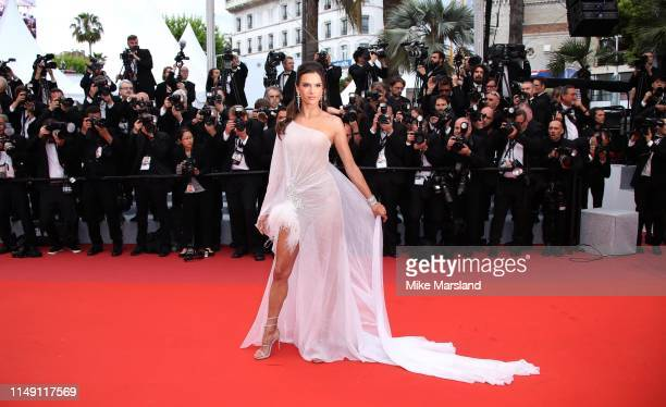 Alessandra Ambrosio attends the opening ceremony and screening of The Dead Don't Die during the 72nd annual Cannes Film Festival on May 14 2019 in...