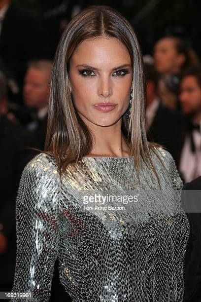 Alessandra Ambrosio attends the Premiere of 'All Is Lost' during The 66th Annual Cannes Film Festival at the Palais des Festivals on May 22 2013 in...