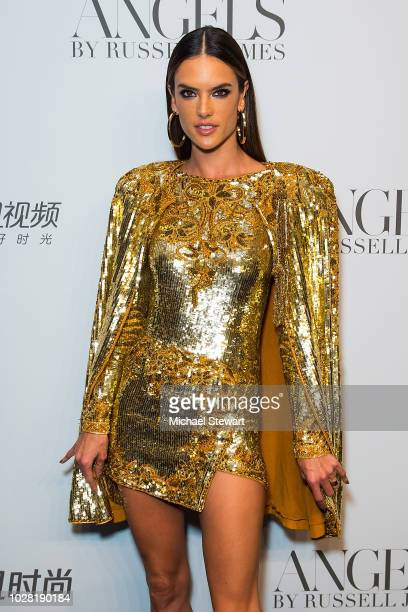 Alessandra Ambrosio attends the Russell James 'Angels' book launch & exhibit at Stephan Weiss Studio on September 6, 2018 in New York City.