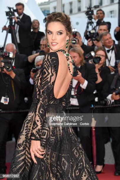 Alessandra Ambrosio attends the screening of 'BlacKkKlansman' during the 71st annual Cannes Film Festival at Palais des Festivals on May 14 2018 in...