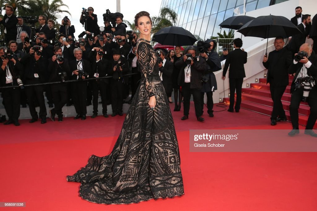 Alessandra Ambrosio attends the screening of 'BlacKkKlansman' during the 71st annual Cannes Film Festival at Palais des Festivals on May 14, 2018 in Cannes, France.