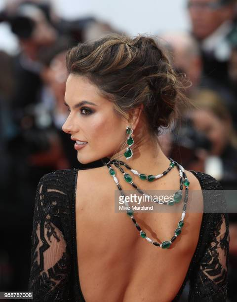 Alessandra Ambrosio attends the screening of BlacKkKlansman during the 71st annual Cannes Film Festival at Palais des Festivals on May 14 2018 in...