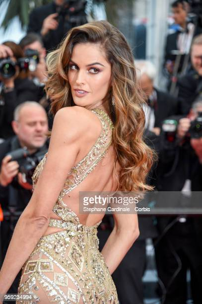 Alessandra Ambrosio attends the screening of Burning during the 71st annual Cannes Film Festival at Palais des Festivals on May 16 2018 in Cannes...