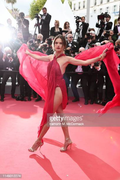 Alessandra Ambrosio attends the screening of Les Miserables during the 72nd annual Cannes Film Festival on May 15 2019 in Cannes France