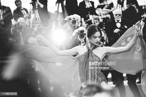 """Alessandra Ambrosio attends the screening of """"Les Miserables"""" during the 72nd annual Cannes Film Festival on May 15, 2019 in Cannes, France."""