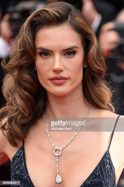 Alessandra Ambrosio attends the screening of Solo A Star Wars Story during the 71st annual Cannes Film Festival at Palais des Festivals on May 15...