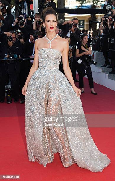 Alessandra Ambrosio attends the screening of 'The Last Face' at the annual 69th Cannes Film Festival at Palais des Festivals on May 20 2016 in Cannes...