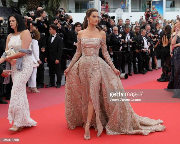 Alessandra Ambrosio attends the screening of The Wild Pear Tree during the 71st annual Cannes Film Festival at Palais des Festivals on May 18 2018 in...